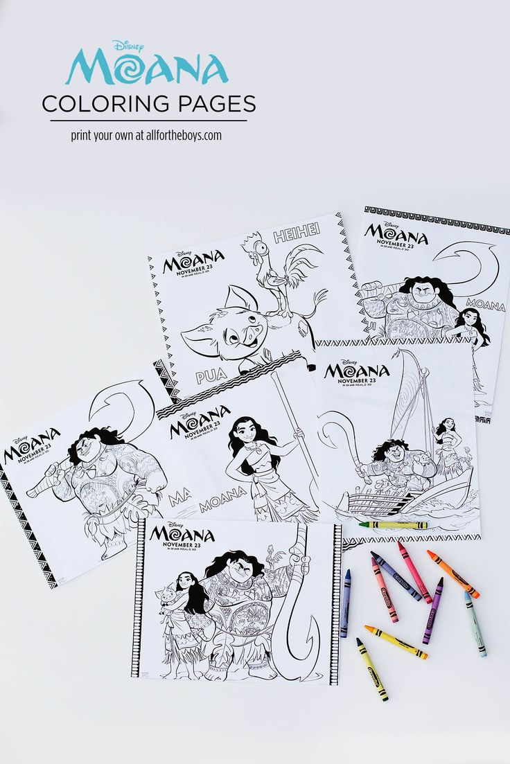 Printable color matching games for preschoolers - Moana Printable Coloring Pages Maze Bookmarks Matching Game Preschool Printablesmatching Gamesprintable