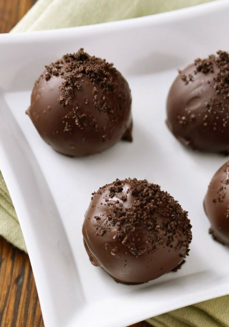 OREO Cookie Balls – One of the best reasons ever to crush your OREO Cookies. So rich and creamy, they're also the best reason ever to hang out by the dessert table.