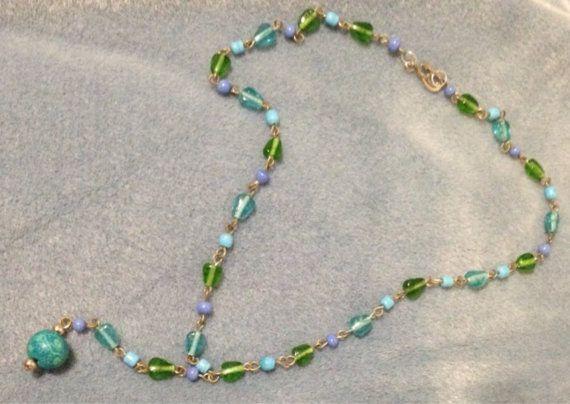 Beach accessories Sea Y Water Necklace on Etsy, $14.00 CAD