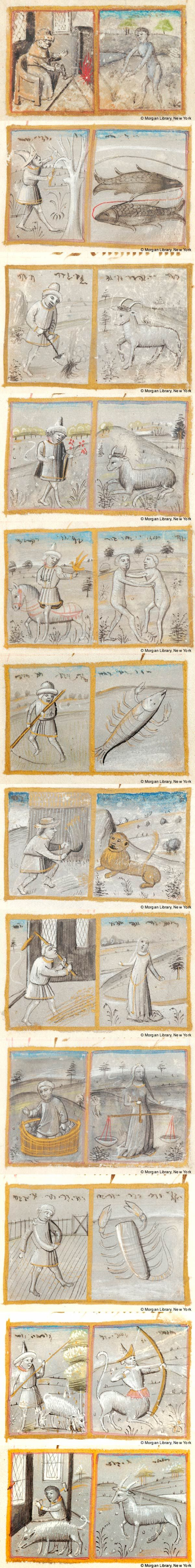 Signs of the Zodiac | Book of Hours | Belgium, perhaps Bruges or Valenciennes | ca. 1470 | The Morgan Library & Museum