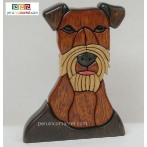Wooden sculpture - statue Irish Terrier handcarved from ishpingo Amazon wood. Peruvian artwork. US $ 89.00 free shipping from peruincamarket