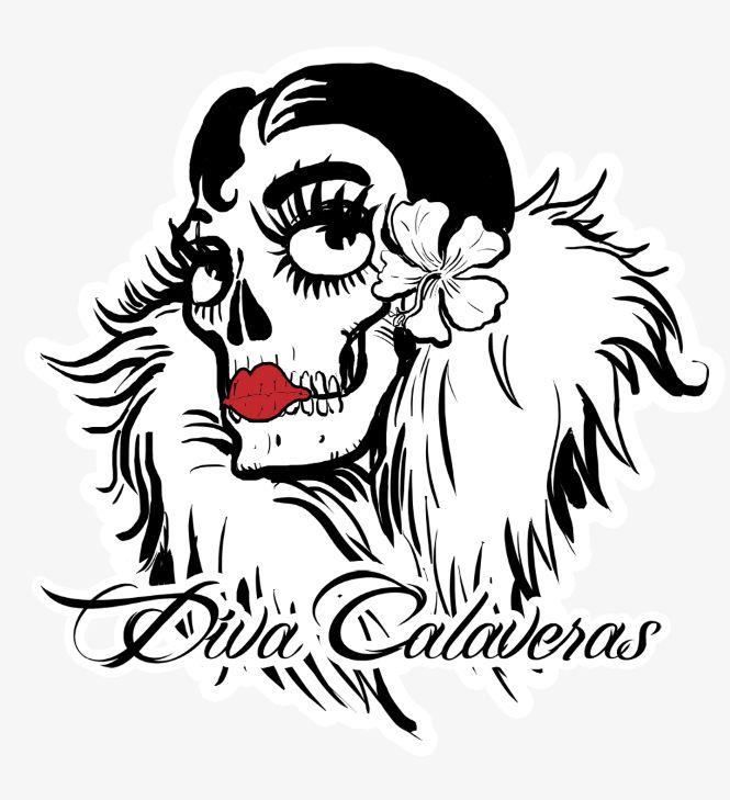 Logotipo e imagen corporativa para la web de complementos y creaciones Diva Calaveras.