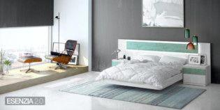 e119 Dormitorio matrimonio cabecero Verde y con luz led.Catálogo ESENZIA 2.0 - Fabricante de Salones, Comedores, Dormitorios y Armarios Baixmoduls.