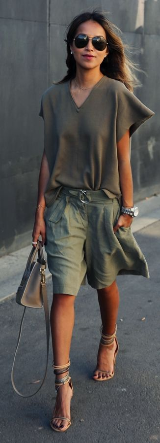 »Green On Green Inspiration Outfit by Sincerely Jules« #fashionstreet