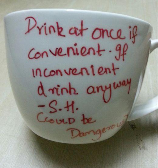 DIY Sherlock mug - definitely making this!