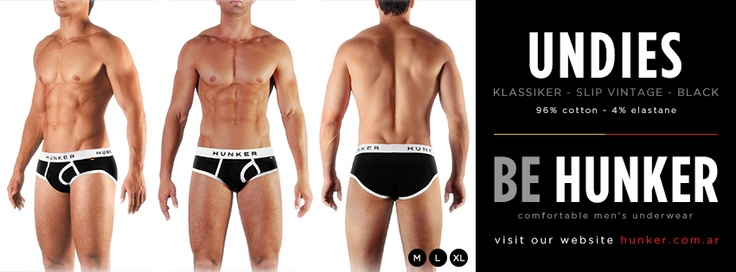 Undies (Slip Vintage) Black, 96% Cotton - 4% Elastane. SHOP ONLINE (we ship worldwide) www.hunker.com.ar