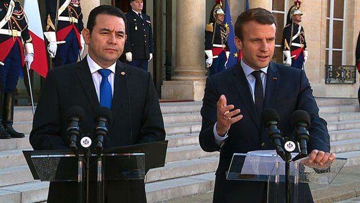 Déclaration conjointe avec Jimmy MORALES, Président de la République du Guatemala