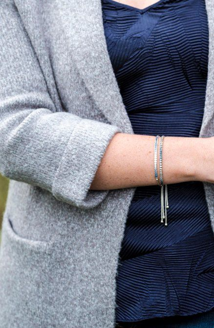 Natural sapphires, graduating from light to dark, create the allure of this bolo bracelet from the Le Vian Denim Ombré collection.