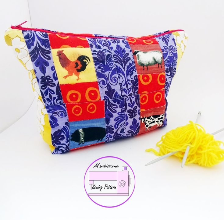 Project bag PDF sewing pattern,large make up bag tutorial,mini purse pattern,quilt pattern,bag making tutorial,zip top bag sewing pattern by MartisanneHandmade on Etsy