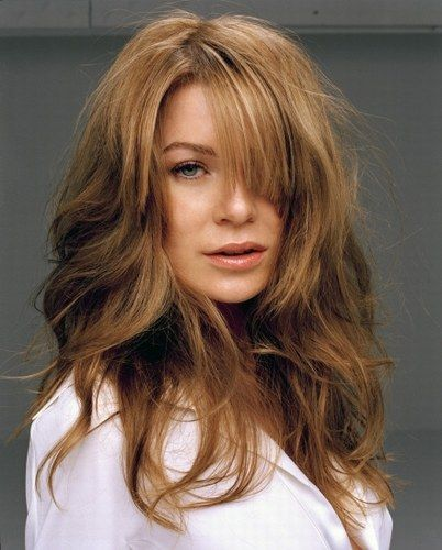 Ellen Pompeo. [I have fine hair. She has fine hair. Therefore, my hair could potentially look like her hair. :) ]