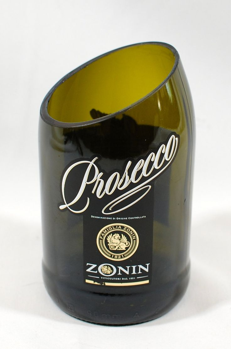 Bottle Vase Handcrafted from a Zonin Prosecco Wine Bottle by XSThings on Etsy