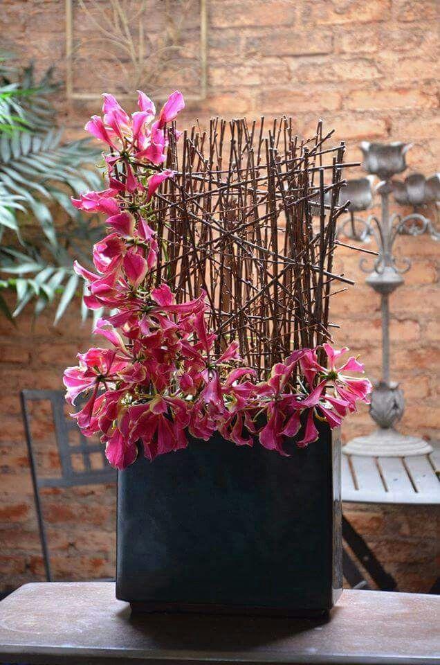 artist neyde segecs flower arrangement 2 ikebana modern flower rh pinterest com