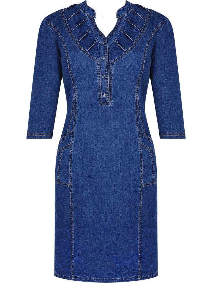 Sukienka z dżinsu Wanda, damska kreacja na jesień.