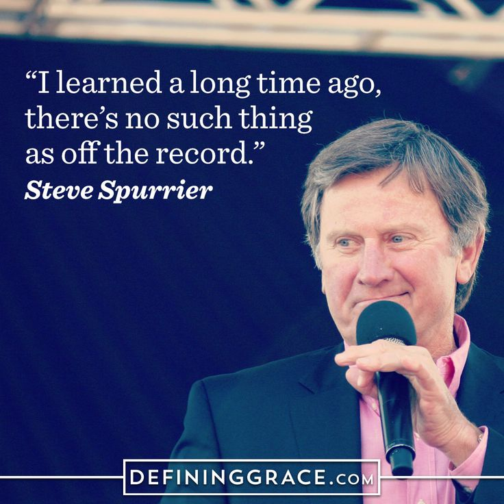 "Steve Spurrier and Communicating ""On the Record"" http://www.defininggrace.com/communication/steve-spurrier-and-communicating-on-the-record/"