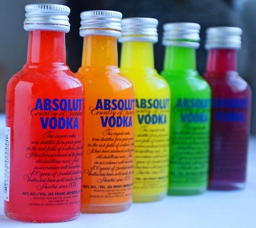 """EMom, how do I make my own Skittles vodka?"" Sort Skittles into colors. In plastic bottles, mix 60 Skittles of each flavor with 6 oz vodka, shake them up, and allow to set overnight. Strain through coffee filters into bottles, chill, and serve.http://www.myemom.com/how-do-i-make-my-own-skittles-vodka/"