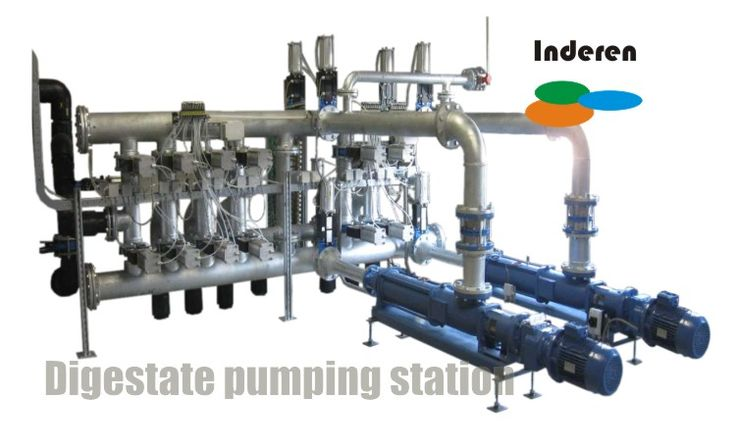 pumping digestate system biogas plant station