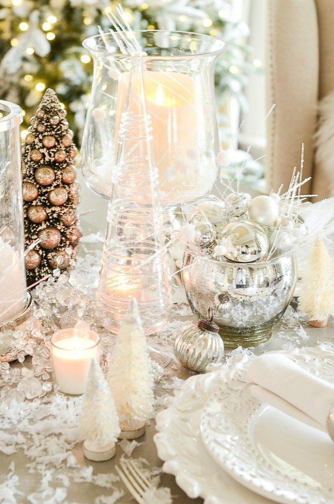 winter wonderland tablescape holidays christmas tablescapes rh pinterest com