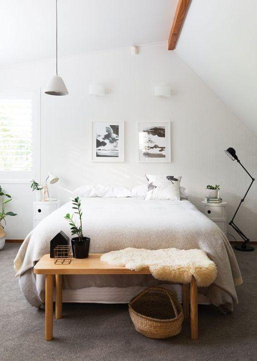 Elegant And Minimalist White Bedroom Design Ideas