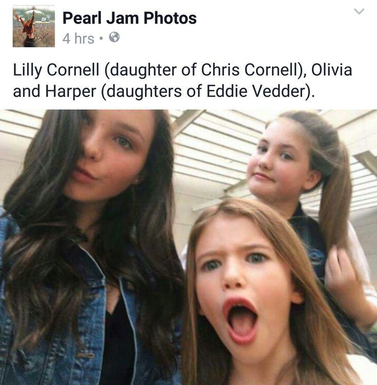 Chris Cornell and Eddies girls, I think Olivia, at the back, is so like Eddie