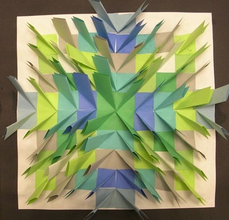 Grade 4 Paper Relief Sculpture