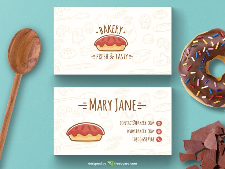 Bakery business card template by Freebcard.com