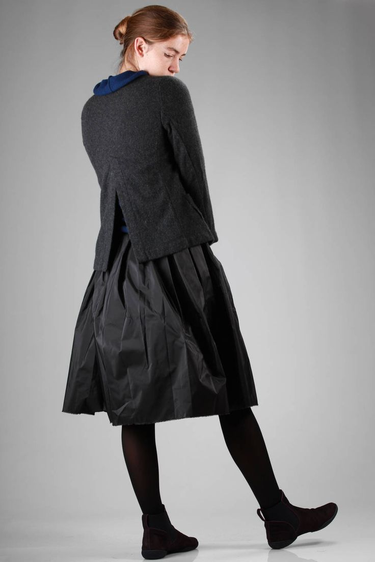 Daniela Gregis | short and slim fit jacket in boiled cashmere canvas