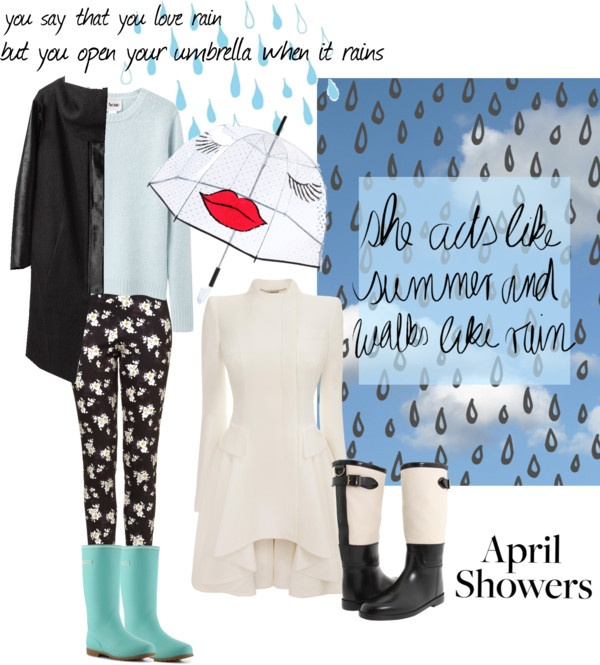 """april showers: love rain"" by brendazhuo on Polyvore"
