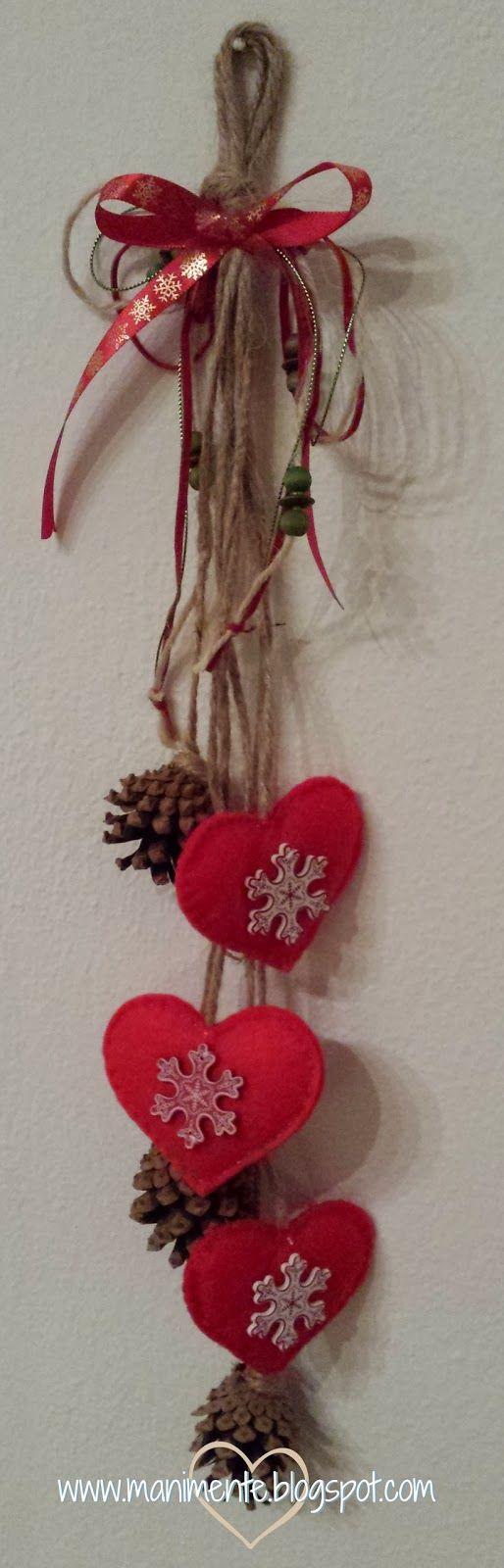 17 migliori idee su decorazioni con pigne su pinterest - Creare decorazioni natalizie ...