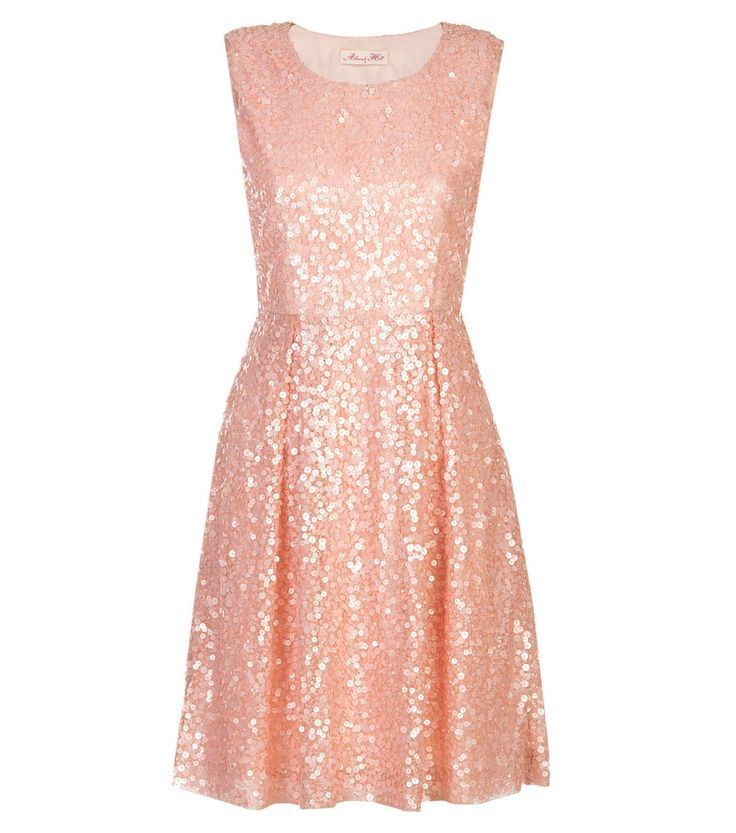 Alannah Hill sequined dress. Love the blush color.