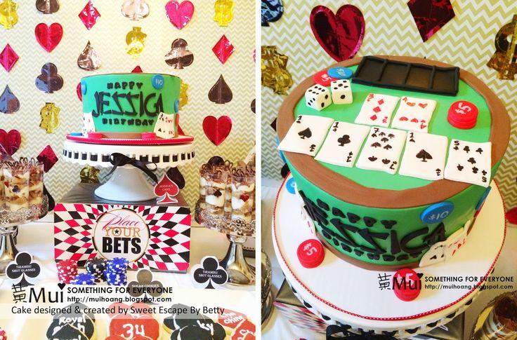 Casino Dessert Table - Jessica's 34th Birthday