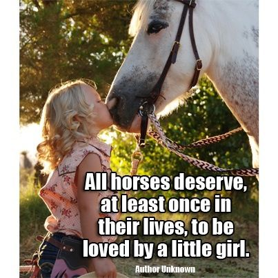 Little girls & horses