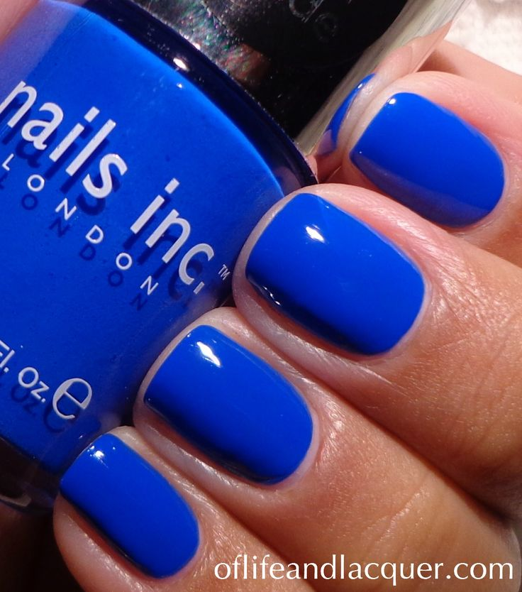 Nails Inc. Baker Street. Such a striking cobalt!