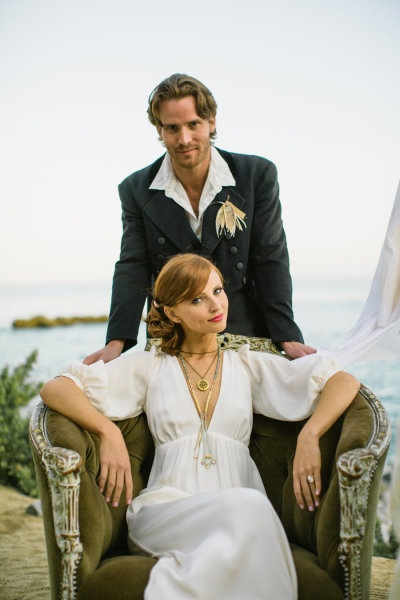 Style Me Pretty Beach Wedding Shoot-  Cameo Ring By Brehan Todd