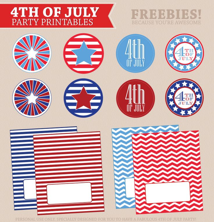 FREE July 4th Party Printables for your summer bbq!