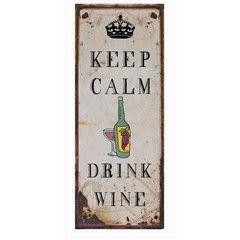 PLACA DRINK WINE 30.5x76 | Mimub.com