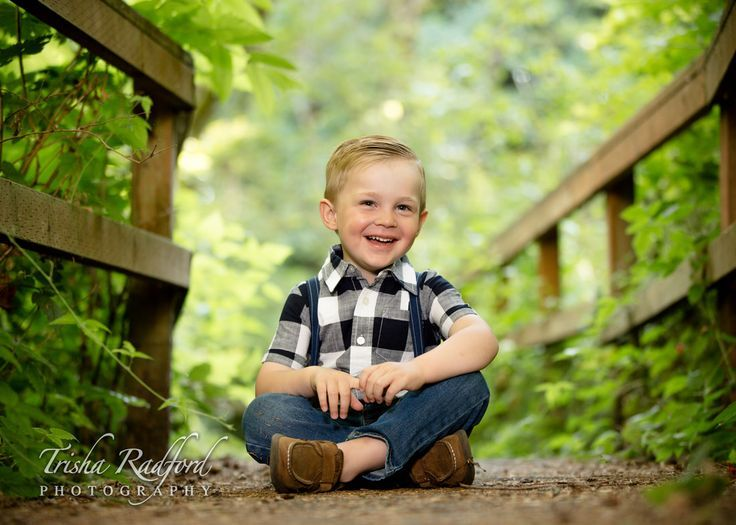 Cute Toddler Boy Outfit For Photos Plaid Shirt With Suspenders