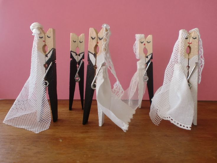wasknijper  bruidspaartjes