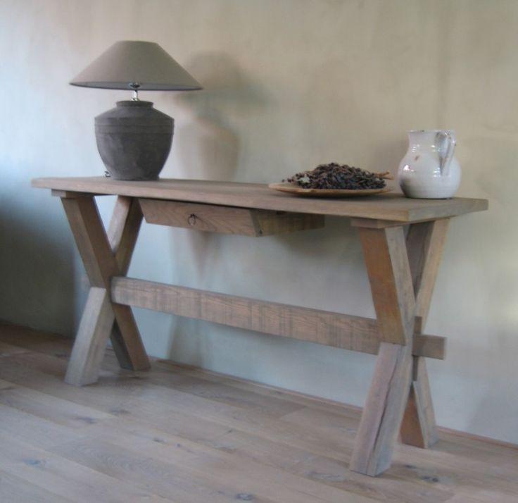 Landelijke sidetable - Grey oak | Landelijke Sidetables & Wijntafels | House of Harrison