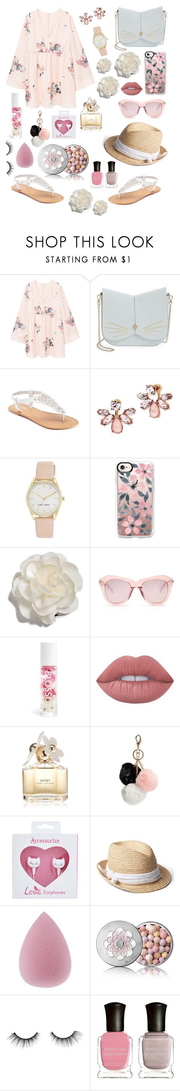 """💐"" by pashion-for-fashionn ❤ liked on Polyvore featuring MANGO, Ted Baker, SONOMA Goods for Life, Marchesa, Nine West, Casetify, Cara, Karen Walker, Lime Crime and Marc Jacobs"