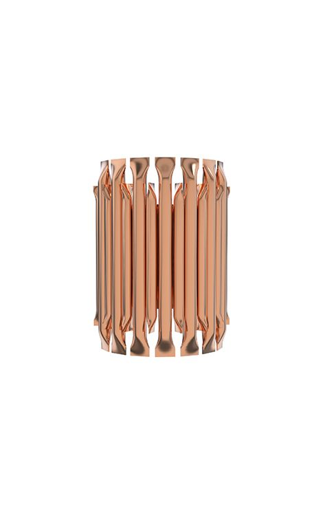 This sconce has the complex and attractive geometry design of combined tubes. It is both inspiring and elegant with its aluminum body | Discover more wall lamps for bedroom ideas: http://masterbedroomideas.eu