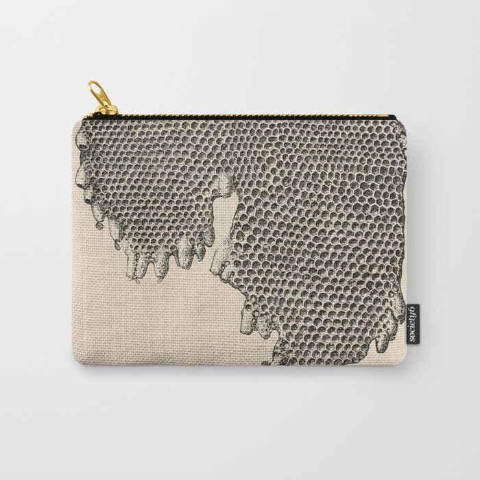 Honeycomb Frame Carry-All Pouch   BlueSpecsStudio + Society6