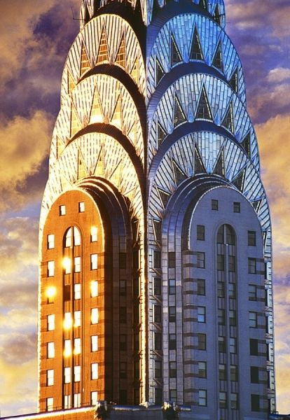 Chrysler Building Top by Mitchell Funk  Art Deco