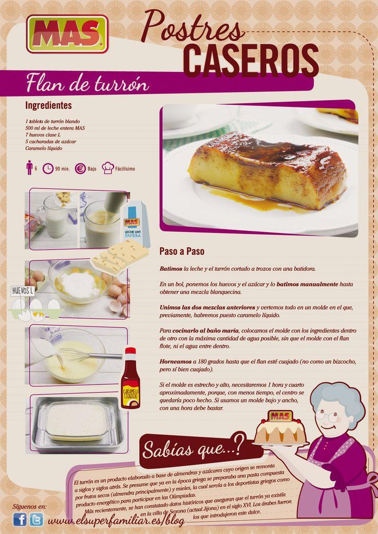 #Receta de flan de turrón #Infografia #Recetas #InfoRecetas #Reposteria #Turron #Recipes