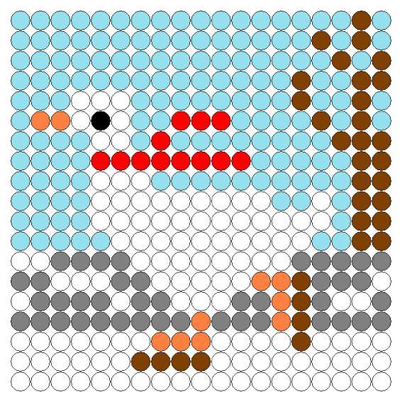Kralenplank: Kikker in de kou (gans)