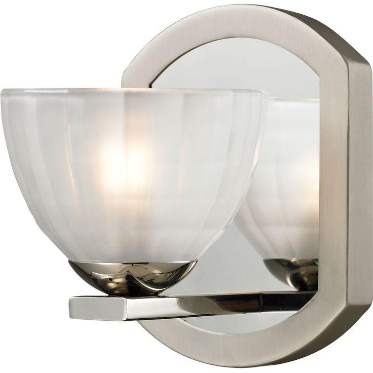 Sculptive 1-Light Vanity Light in Polished Chrome | ELK ...