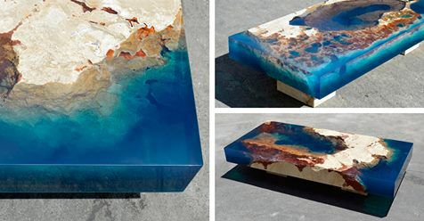 Alexandre Chapelin is a designer with LA Table , and his Lagoon Series of tables is a celebration of the natural beauty of our planets endless oceans...