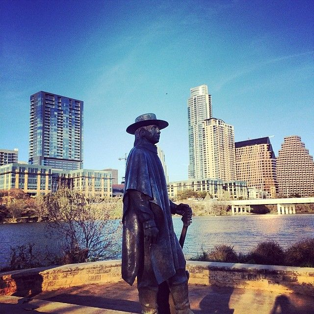 Stevie Ray Vaughan Statue in Austin, TX