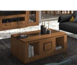 Brezo_mesa_centro Mueble salón Brezo 1 color Nogal y  Miel pvp: 362€   20% descuento http://muebles-arevalo.es/ #Muebles #Salón  #muebles_salon #muebles #precio #muebles_madrid #tienda_muebles#madrid #madera #mesas