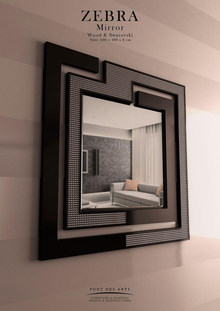 Zebra Mirror - Pont des Arts - Designer Monzer Hammoud - Paris