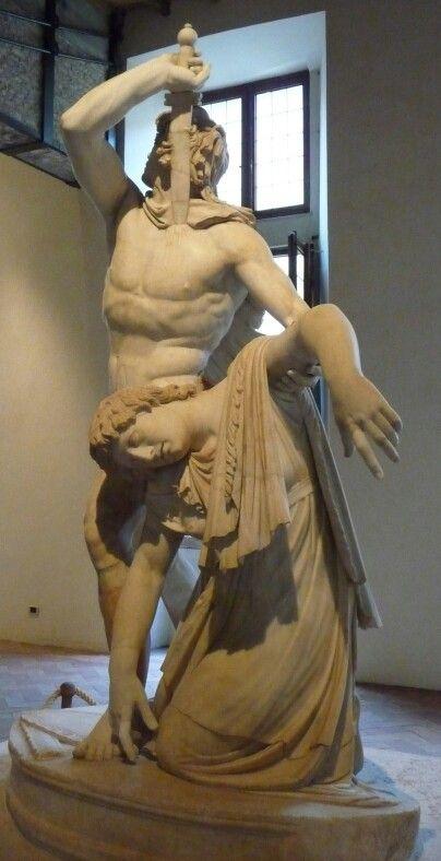 El gálata Ludovisi  Escultura helenística que representa a un gálata suicidándose tras haber matado primero a su esposa, para no caer en manos de los enemigos griegos . Fue encargada por el rey Átalo I, para conmemorar la victoria sobre los celtas (gálatas). Mide 2,11 m de altura y es la pieza central de un grupo escultórico. Se trata de una copia romana de un original griego en bronce. El escultor pudo ser Epígonas. Se encuentra dentro de la Escuela de Pérgamo. Actualmente se encuentra en…